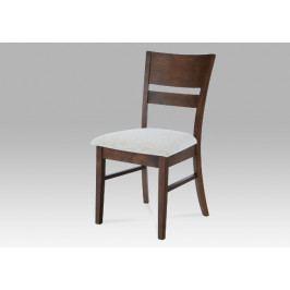 Jídelní dřevěná židle Autronic AUC-5527 WAL – ořech, čalouněný sedák