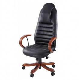 Kožené kancelářské křeslo na kolečkách Prowork ERGOSIT 6195 –  nosnost 150 kg