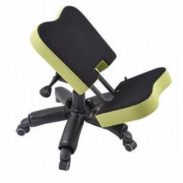 Čalouněná klekací židle na kolečkách iWORK 360 – černá/zelená