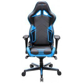Herní židle DXRACER Racing OH/RV131/NB – umělá kůže, černá/modrá