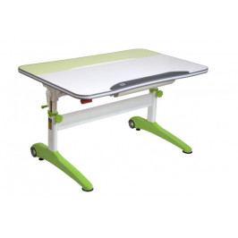 Dětský rostoucí stůl Mayer RACING 32R2 13 – bílo-zelený, 120×58–75×75