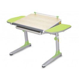 Dětský rostoucí stůl Mayer PROFI 3 32P3 13 – zelený, deska javor, 116×57–75×66