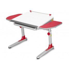 Dětský rostoucí stůl Mayer PROFI 3 32W3 11 – červený, deska bílá, 116×57–75×66