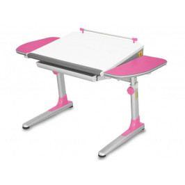 Dětský rostoucí stůl Mayer PROFI 3 32W3 19 – růžový, deska bílá, 116×57–75×66
