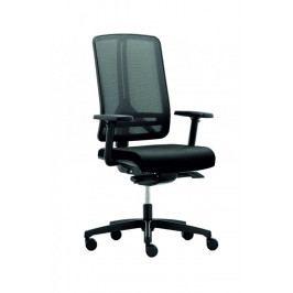 Kancelářská židle na kolečkách RIM FLEXI FX 1104 – s područkami, černá