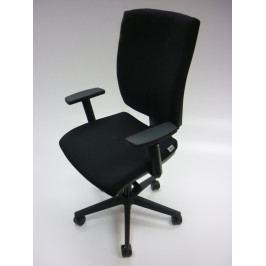 Ergonomická kancelářská židle na kolečkách RIM ANATOM AT 986 A – s područkami, černá