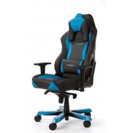 Herní židle DXRACER Wide OH/WY0/NB – umělá kůže, černá/modrá