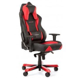 Herní židle DXRACER Wide OH/WY0/NR – umělá kůže, černá/červená