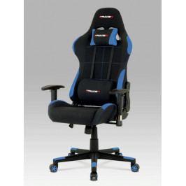 Herní židle na kolečkách ERACER F02 – černá/modrá