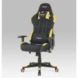 Herní židle na kolečkách ERACER F02 – černá/žlutá