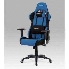 Herní židle na kolečkách ERACER F01 – černá/modrá