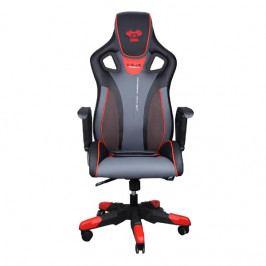 Herní židle na kolečkách E-Blue COBRA III – umělá kůže, černá/červená