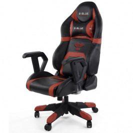 Herní židle E-Blue COBRA RACING – černá/červená, umělá kůže