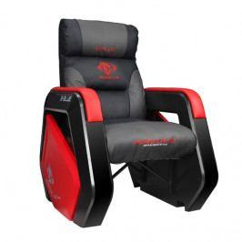Herní sofa E-Blue AUROZA – černá/červená, umělá kůže, nosnost 300 kg