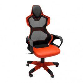 Herní židle E-Blue COBRA AIR – červené, síťovaný opěrák