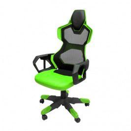 Herní židle E-Blue COBRA AIR – zelené, síťovaný opěrák