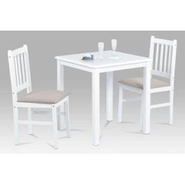 Jídelní set 1 + 2 v retro stylu – bílý