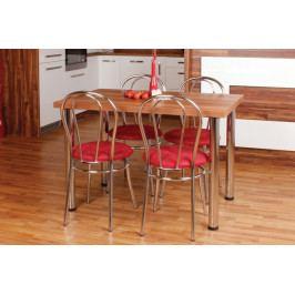 Jídelní set Bradop 1 + 4 – stůl Zbyněk a židle Antonie