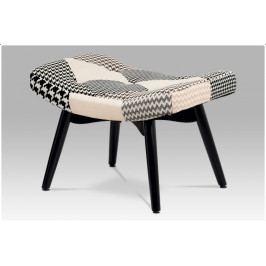 Retro stolička Pepito - buk masiv, černá/bílá