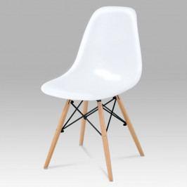 Jídelní židle bez područek CT-758 WT – bílá, masiv buk