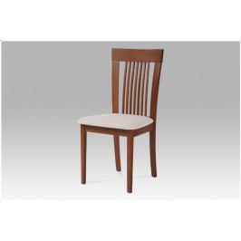 Jídelní dřevěná židle FAGGIO – třešeň, krémový potah