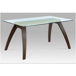 Jídelní stůl TORE – masiv buk/sklo, 150×90×75 cm