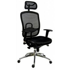 Kancelářská ergonomická židle TEXAS - s podhlavníkem, područkami i bederní opěrou
