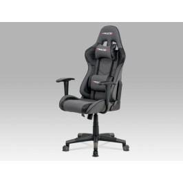 Herní židle na kolečkách ERACER V608 – černá/šedá, nosnost 130 kg