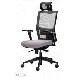 Kancelářská ergonomická židle Emagra X5 – celočerná, nosnost 130 kg