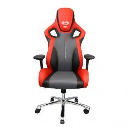 Herní židle E-Blue COBRA II – červená, umělá kůže