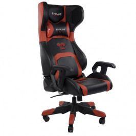 Herní židle E-Blue COBRA BLUETOOTH s reproduktory – černá/červená, umělá kůže