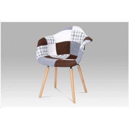 Jídelní židle REGOL – masiv buk, patchwork