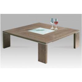 Konferenční stolek NOCE – lamino, hnědá, 100×100×38