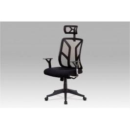 Kancelářská židle na kolečkách BARS — černá, s podhlavníkem a područkami