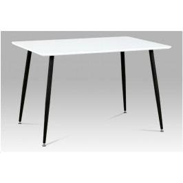 Jídelní stůl OSCUR — kov černý, bílá, 120×80