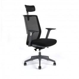 Kancelářská ergonomická židle Office Pro PORTIA — černá, s podhlavníkem