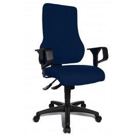 Kancelářská ergonomická židle TOP POINT SY - modrá, s područkami