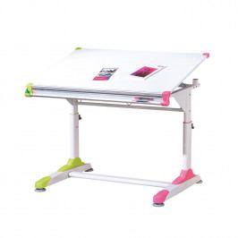 Dětský rostoucí stůl PUPIL - kov/MDF, barevné prvky