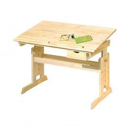 Dětský výškově stavitelný stůl TIMBER - masiv buk