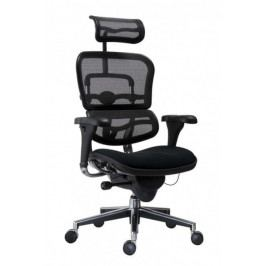 Manažerská židle Antares ERGOHUMAN – černá, čalouněný sedák, nosnost 150 kg