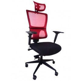 Kancelářská ergonomická židle Emagra X4 – černá/červená, nosnost 130 kg