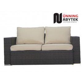 Umělý ratan zahradní 2-sofa Daylight mocca/krémové