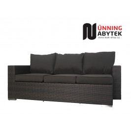 Umělý ratan zahradní 3-sofa Daylight mocca/choco
