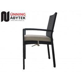Umělý ratan Zahradní židle Horizon mocca/krém