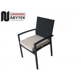 Umělý ratanový nábytek Zahradní židle Horizon mocca/chocco