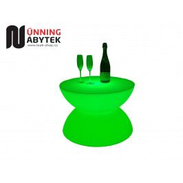 Svítící nábytek - Stolek se sklem BOOM - AKCE