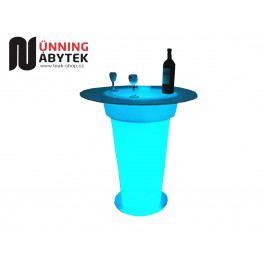 Svítící nábytek koktejlový bistro stůl MONUMENT