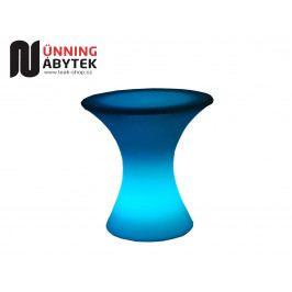 Svítící nábytek LED stolek se sklem FIREFLY - Sleva
