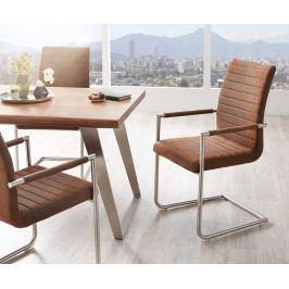 Jídelní židle Daan Vintage Braun/Silver