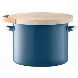 Utility chlebník & jasanové prkénko pr.31cm/14L modrá, LSA
